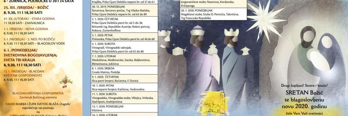 Raspored blagoslova kuća i Božićni listić