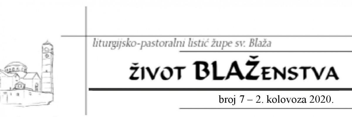 Život blaženstva 7/2020
